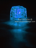 LED Ice Cube LiteCubes - Blue Light - Flashing or Steady - Waterproof, Freezable