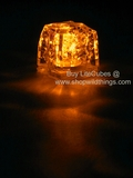 LED Ice Cube LiteCubes - Orange Light - Flashing or Steady - Waterproof, Freezable