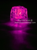LED Ice Cube LiteCubes - Pink Light - Flashing or Steady - Waterproof, Freezable