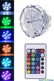 "LED Colored Disc w/Remote -  Submersible -  2.50"" RGB"