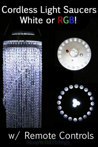 LED Light Discs - Uplight Vases or Downlight Chandeliers! White or Color Changing!