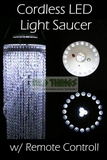 LED Light Saucer - 23 Lights, Cordless with Remote Control (New & Improved w/Infrared!)