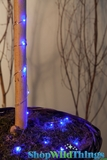"LED Light Strand BLUE - Waterproof - 72"" Long - Battery Operated - 19 Lights"