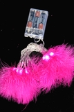 "LED Light Strand - Fuchsia Feathers - 20 Lights, 86"" Long - Battery Operated"