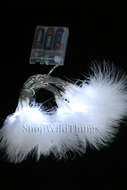 "LED Light Strand - White Feathers - 20 Lights, 86"" Long - Battery Operated"