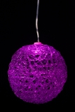 """LED Lighted Sparkle Ball Orb 4"""" - Purple - Battery Operated, Waterproof, Timer"""