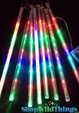 LED Meteor Light Set - Strands of Color Changing LED Lighting, Falling Stars - Battery Operated
