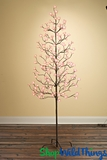 LED Tree, 6' Tall, 160 Pink Flower Warm White Lights - Indoor/Outdoor