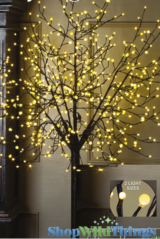 Led Lights For Outdoor Trees : City Lights LED Tree 8 Feet Tall, 600 Lights, Indoor Outdoor Safe, UL