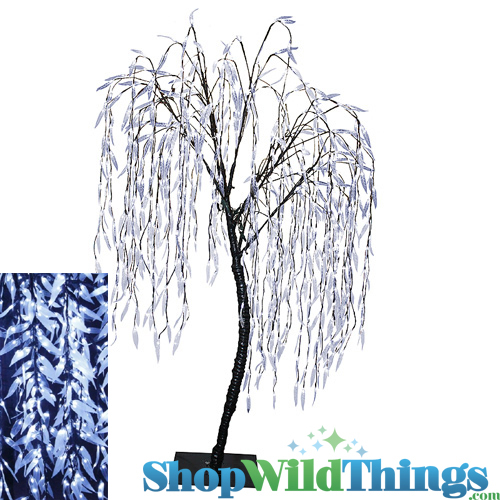 Led Lights For Outdoor Trees : LED Willow Tree Cool White 8 Feet Tall, 640 LED Lights, Indoor Outdoor
