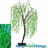 LED Willow Tree - 8 Feet Tall -  Indoor/Outdoor - 640 Leaf Lights - Green