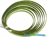 Doorbuster - Lime Green Glitter Rope - Double Sided- 5 Yards