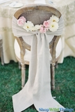 """Linen Chair Sash or Table Runner - Natural w/ Finished Edge - 8.5"""" x 108"""""""