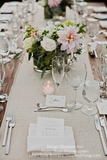 """Linen Table Runner - Natural w/ Finished Edge-  12"""" x 120"""""""