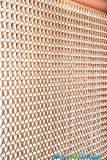Lynx Aluminum Chain Beaded Curtain - Copper - 3 ft x 6 ft