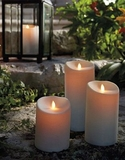 Luminara Outdoor Candle - Ivory 3.75 x 9 - With Timer - Remote Ready - Amazing Flame