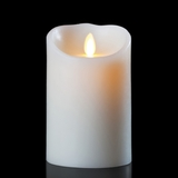 Luminara Wax Candle - Ivory 3.5 x 7 - With Timer - Remote Ready - Amazing Flame!