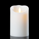 Luminara Wax Candle - White 3.5 x 7 - With Timer - Remote Ready - Amazing Flame!