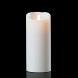 Luminara Wax Candle - White 4 x 9 - With Timer - Remote Ready - Amazing Flame!
