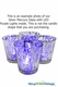 """Mercury Glass Candle Holders - Round """"Merilee"""" - Large - Set of 6 - 3.75"""" x 4"""" - Silver"""