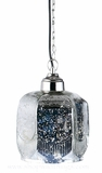 Mercury Glass Pendant Hanging Lamp - Chrome / Gold