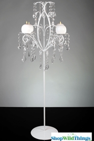 """Meredith""  Crystal Candelabra 35""  Tall!"