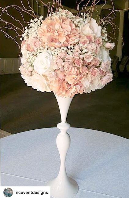 Mermaid Centerpiece Floral Vase and Riser Silver - 38 3/4""