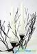 Metal Candle Holder with Clear Beads- 2 Cups 11  x 14
