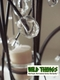 """Metal Candle Tree Black/Brown with Clear Beads - 5 cups, 36""""  tall"""