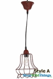 "Metal RED Wire Pendant Hanging Lamp ""Style A"""