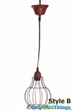 "Metal RED Wire Pendant Hanging Lamp ""Style B"""