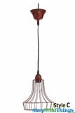 "Metal RED Wire Pendant Hanging Lamp ""Style C"""