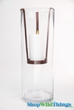 """Metal Suspended Candle Holder -  Rusted Brown- 3.75"""" x 6.5"""" - Make ANY Container Into A Candle Holder!"""