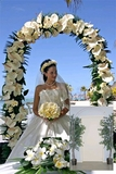 Metal Wedding Arch - Plain 6.5' tall, 4.5' wide
