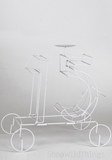 Metal Wire Quinceanera Number 15  - White Metal Centerpiece