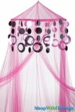 Custom Canopy with Hoops Silver & Black-Choose Canopy Color!