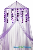 Custom Canopy with Spangles Purple-Choose Canopy Color!