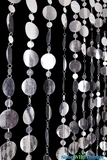 "Beaded Curtain ""Bold"" Circles - Metallic Silver 7.6' Long"