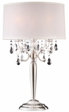 """Moxie"" Real Crystal Table Lamp - 16""Lx16""Wx30""H"