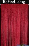 "Nassau String Curtain Red 36"" x 120"" (10 Feet)"