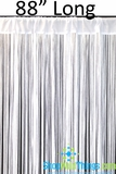 "Nassau String Curtain White 36"" x 88"""