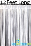 "String Curtain White 3' x 12' - Polyester & Cotton ""Nassau"""