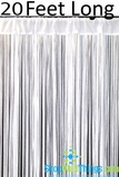 "String Curtain White 3' x 20' - Polyester & Cotton ""Nassau"""