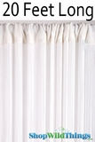 "Nassau  String Curtain White Extremely Long! 36""  x 240""  (20 Feet!)"