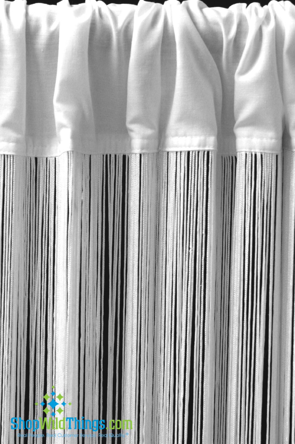 Event Drapes 20 In Stock White String Curtains Fringe