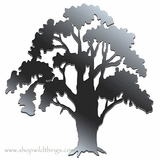 "Oak Tree 13.75"" x 13"" Plexi Mirrored Adhesive Wall Art"
