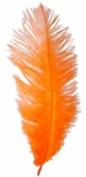 "Orange Ostrich Feathers 29""-32"" - SPADS"