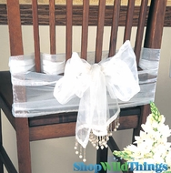 Organza Sheer Shiny Runner / Garland / Chair Bow  Beaded 16 Colors