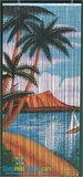 Palm Beach Serenity Scene - Bamboo Painted Beaded Curtain