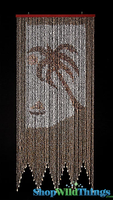 home beaded curtains columns wood natural curtains palm tree real ...